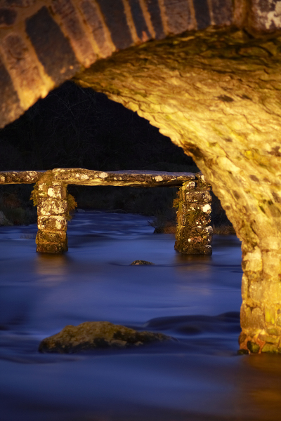 Clapper bridge, Dartmoor, UK A109