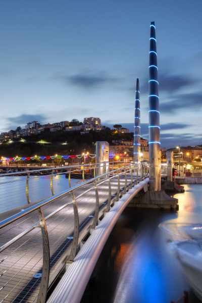 Torquay harbour bridge, Devon UK A108