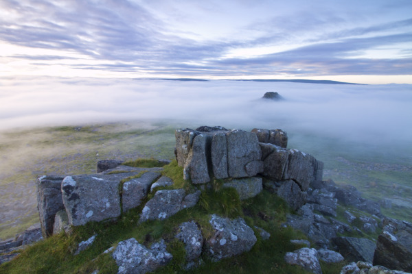 Sharpitor cloud inversion, Dartmoor UK N117